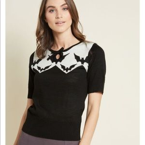 ModCloth Hell bunny bat sweater top NWOT